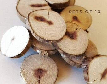 """Small wood rounds, 1"""" Red heart cedar tree slices, wooden magnet rounds, bulk set, raw material, DIY craft, wedding, ornaments, IN-STOCK"""
