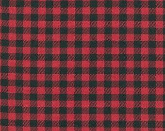 Burly Beavers by Andie Henna - Burly Check in Red (AHE159953) - Robert Kaufman - 1 Yard