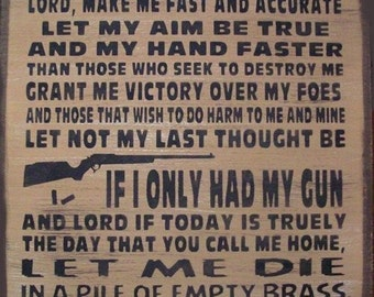 If I Only Had My Gun Primitive Rustic Distressed Country Wood Sign Home Decor