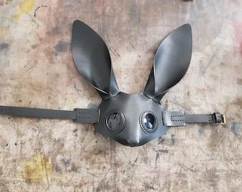Black bunny mask