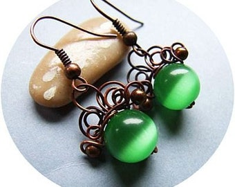 Earrings Tutorial, Intricate Wire Wrapping Jewelry Tutorial, Simple DIY Earrings, tutorial 31