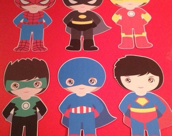 Super Hero Die Cuts Set of 6