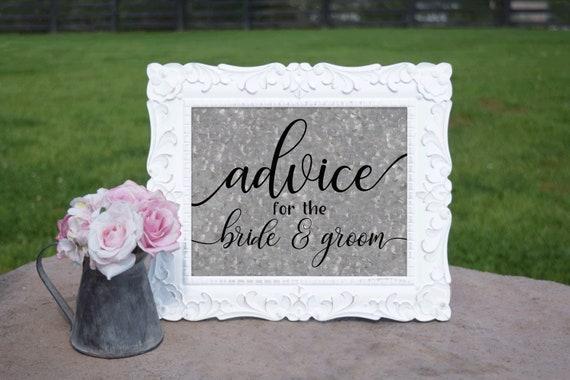 County Wedding Advice Sign   PRINTED Wedding sign, Advice for Bride & Groom, Galvanized Wedding Signage, Barn Wedding signs, Wedding print