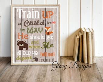 Printable, Bible Verse, Bible verse printable, Scripture Art, Typography, Train up a child in the way he should go, Proverbs 22:6, printable