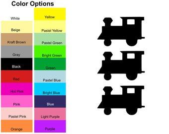 25 Pieces - Train Engine Die Cut Shapes, Paper Train Engine Shapes, Train Engine Shape Cut Out, Train Engine Shape for Card Making Scrapbook