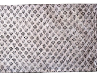 1 to 50 Yards Indian Block Printed Cotton Fabric
