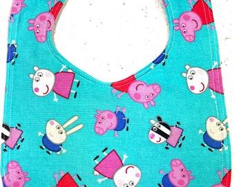 Peppa Pig Baby Bib  - Infant Bib - Dribble Bib - pig - Baby Shower Gift - cartoon