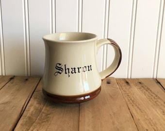 Vintage Stoneware Sharon Mug