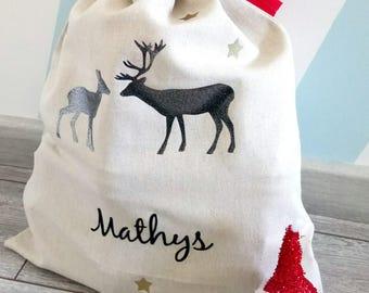 Shipping of personalized Santa bag ~ custom