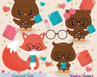 INSTANT DOWNLOAD, planner owls cliart and vectors for crafts and products