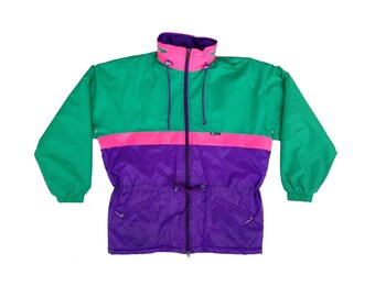 Rare 90s K-WAY Lightweight Insulated Long Ski Jacket - S