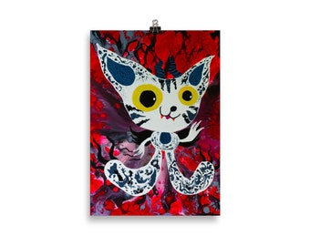 Space Cat Poster by see foon