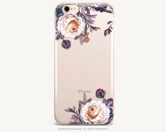 iPhone 8 Case iPhone X Case iPhone 7 Case Floral Clear GRIP Rubber Case iPhone 7 Plus Clear Case iPhone SE Case Samsung S8 Plus Case U38
