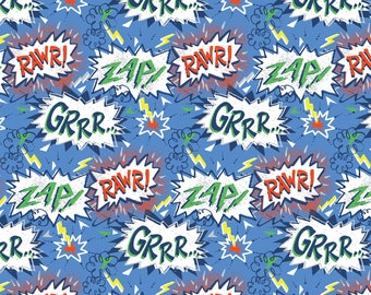 QUILTING COTTON FABRIC Blend Zap Sold by the 1/2 yard