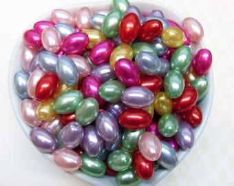 Baril de perles acrylique 50 x 12mm en forme