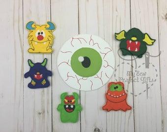 Monster finger puppet set,  finger puppet, Monster Toy puppet, scary puppet toy, finger puppet, pretend play, preschool toy