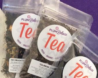 Tea Trio Gourmet Tea Sampler | Tea Gift Set | Organic Tea | Sampler Teas | Tea Assortment | Gift for Tea Lovers | Sampler Tea Gift Box