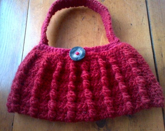 """SALE 30-50% off of Ready to ship Items! - """"Candy Apple"""" Cabled Baguette Purse (Was USD 28!)"""
