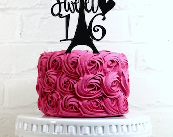 Happy 65th Birthday Cake Topper or Sign