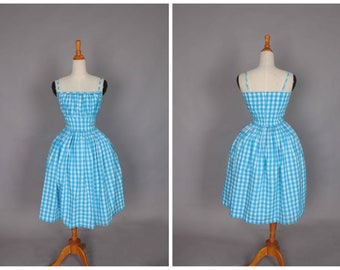 "Grace Dress ""Somewhere Between Blue and Green"" Mint Teal Gingham"