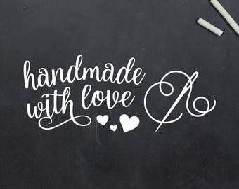 Handmade With Love Stamp, Handmade By Stamp, Crafting Stamp, Gift For Crafter, Handmade Craft, Custom Rubber Stamp (S147)