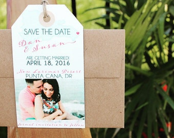 Save the Date Luggage Tag Magnet sets
