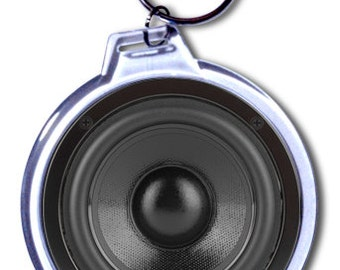 Woofer Speaker Keychain (Printed) - 2 Size Choices