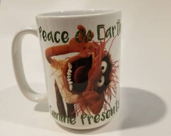 15 ounce Animal muppets Peace on earth, gimme presents mug