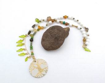 Tree by Leaf asymmetrical necklace