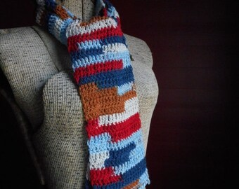 Desert Sky Bohochic Larimar Jeweled Gemstone fringe Crochet Scarf. Fall & Winter Fashion Unique Scarf Gift For her with genuine gem stones