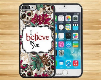 I Believed In You Sugar Skull Vintage Floral Case Cover For iPhone 8 Plus iPhone X iPhone 7 Plus iPhone 6 Plus iPhone 5 5s iPhone 4 iPod 6
