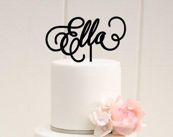 Birthday Cake Topper, First Birthday Cake Topper, Name Cake Topper, Personalized Birthday Cake Topper, Baby Shower Cake Topper