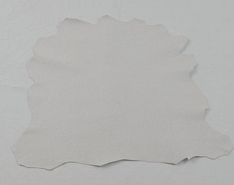 Glittered White Lambskin Leather