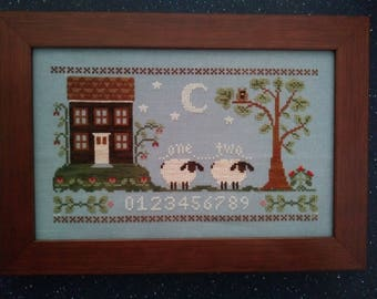 Counting House Finished Framed Cross Stitch Little House Needleworks