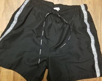 Vintage Calvin Klein Swimwear  Black Trunks Size S