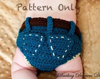Instant Download PDF Denim Diaper Cover Crochet Pattern