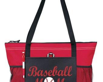 "Large 20"" Baseball MOM Sports Bag  with Glitter  design."