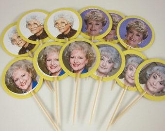 Golden Girls cupcake toppers, Golden girls cupcake picks