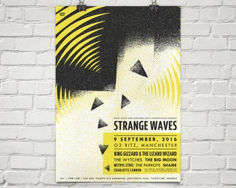 A3 Strange Waves limited edition screen print