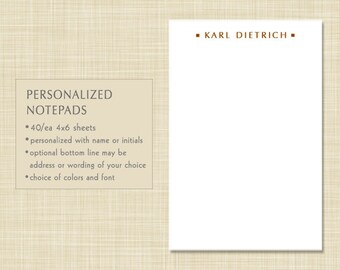Personalized Notepad - Masculine