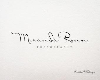 Premade logo -Photography logo - Signature logo design - Minimalistic logo - Logo design - Handwritten logo- Fashion logo - Watermark 103