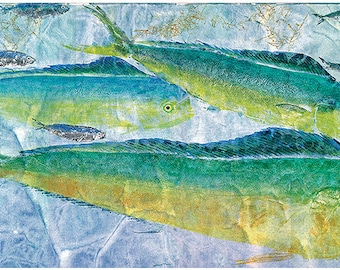 Limited Edition Reproduction of Original gyotaku Surface Action