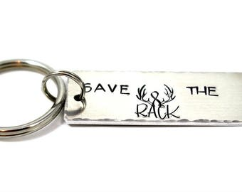 Breast Cancer Gifts - Breast Cancer Awareness - Save The Rack - Survivor Gift - Cancer Free - Breast Cancer Key Chain