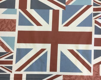 Fryetts Vintage Flags cotton fabric by the metre