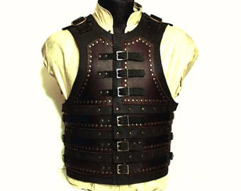 Layered leather armor for medieval, pirate, steampunk or LARP costume