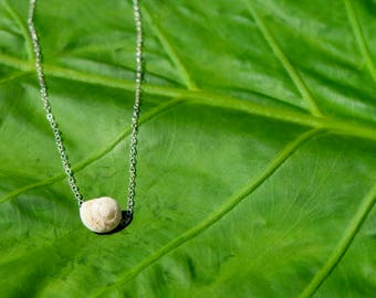Moon Shell Necklace - Sterling Silver