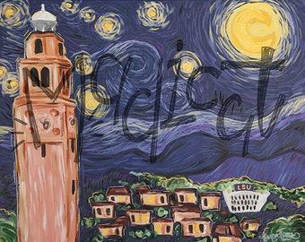 LSU Starry Night Print
