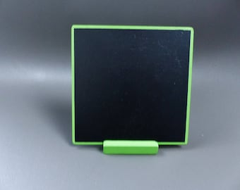 large slate table with support 13 x 13 cm green color