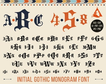 Old english letters etsy gothic font svg goth monogram font letters svg old english letters gothic numbers for cutting machines thecheapjerseys Choice Image