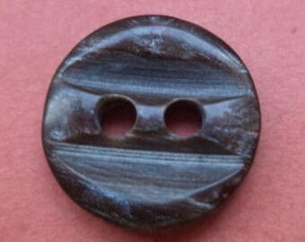 10 small buttons button dark brown 12mm (1773)